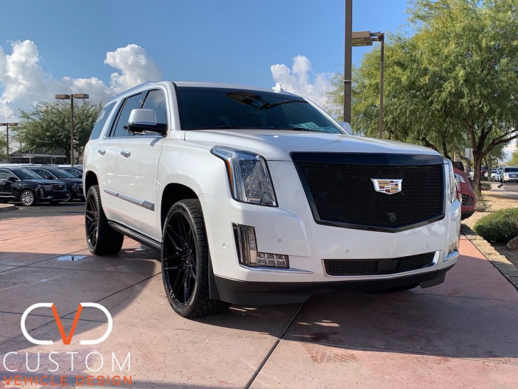 2020 Cadillac Escalade with blacked out Wheels, Grille and Tint done by CVD! Customize your vehicle today⠀