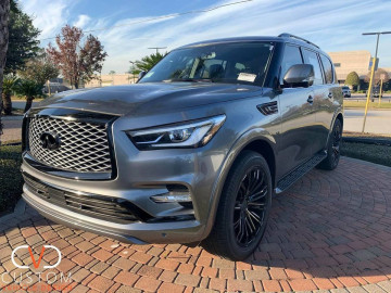 2020 Infiniti QX80 with Vogue VT386 Wheels and the CVD blackout