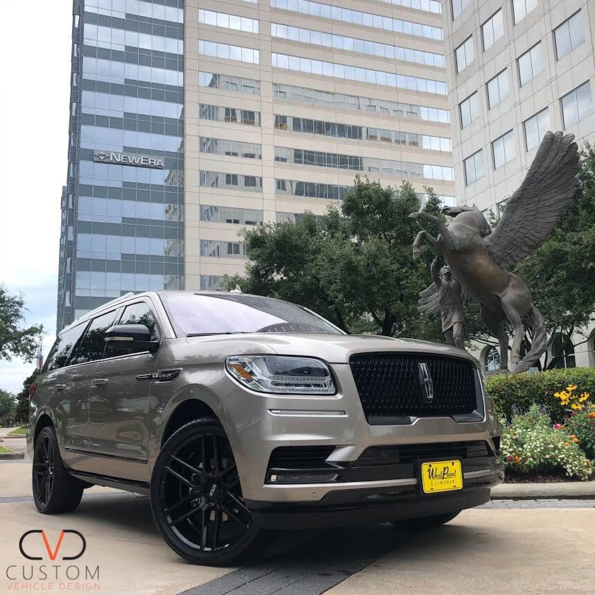 "2020 Ice Mocha Lincoln Navigator with 24"" Vogue Signature V Tyres & 24"" Titan wheels (Custom Blackout Package)"