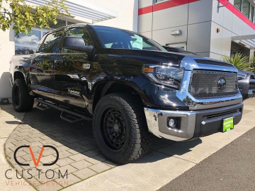Toyota Tundra with Black Rhino arsenal wheels and Custom grille ⠀