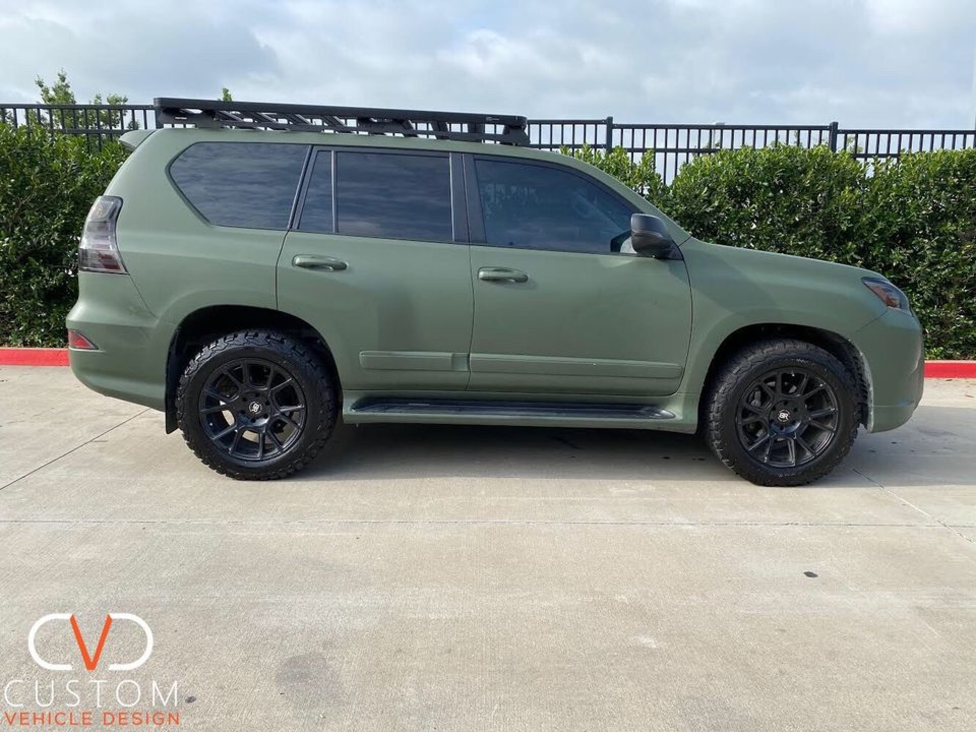 2020 Lexus GX460 w/ Black Rhino Mala wheels (full wrap, blackout, roof rack)