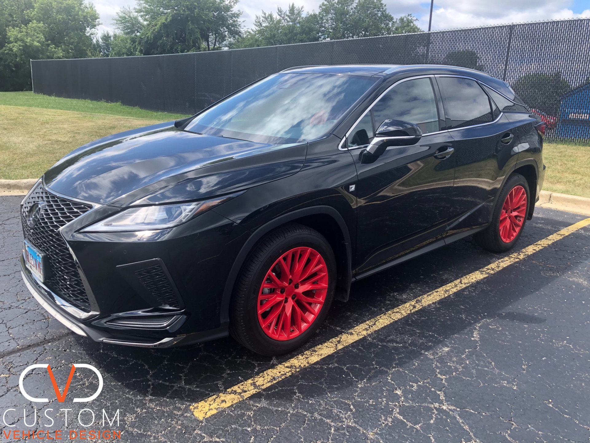 2020 Lexus with Customized Red wheels