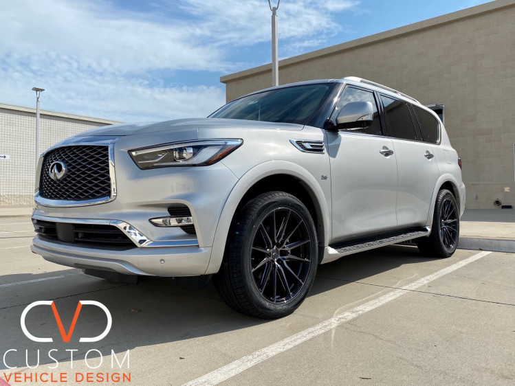 Infiniti QX80 with Vossen HF6-1 wheels and Vogue Tyres