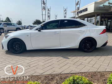 "Lexus IS350 with 18"" TSW Mosport wheels"