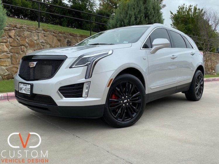 Cadillac XT5 with custom grille done by CVD
