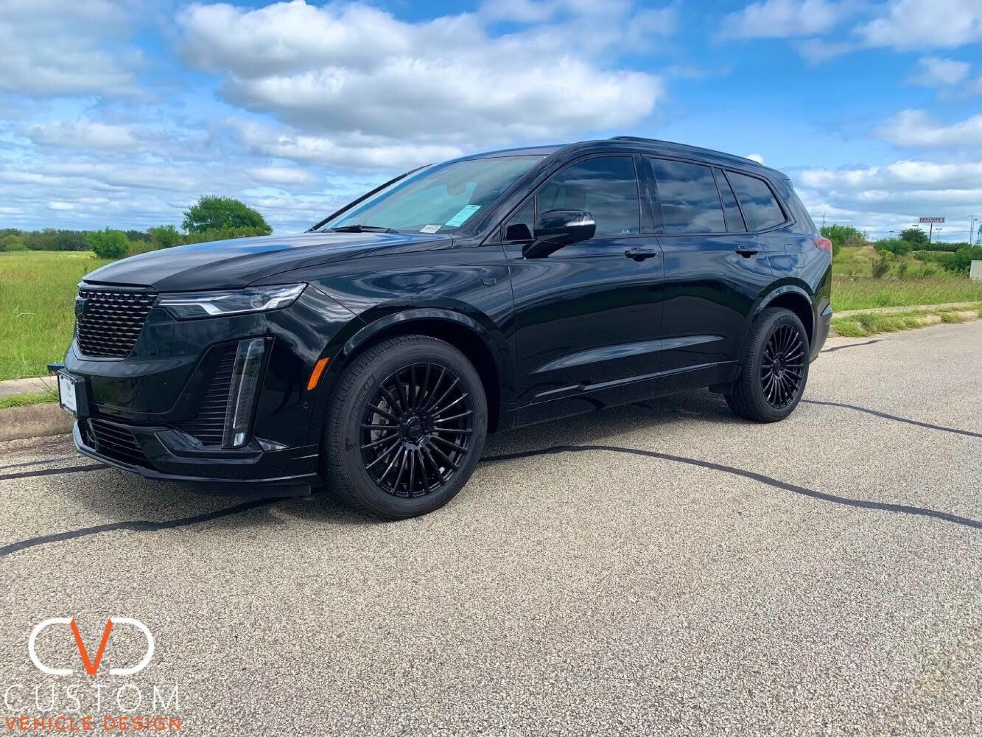 """2020 Cadillac XT6 with full blackout package and 20"""" Vogue VT387 wheels"""