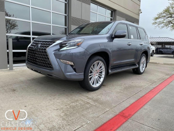"2020 Lexus GX460 with 22"" Black Rhino Kruger wheels"