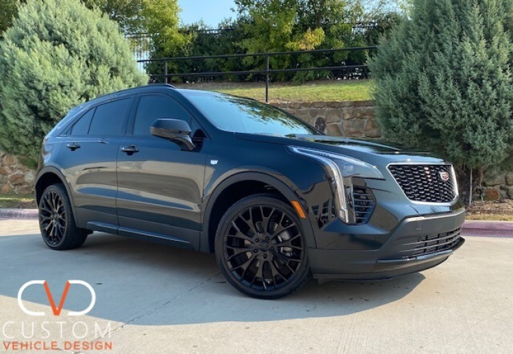 2021 Cadillac XT4 sport with Vogue VT383 wheels in black gloss and Vogue Signature V Tyres