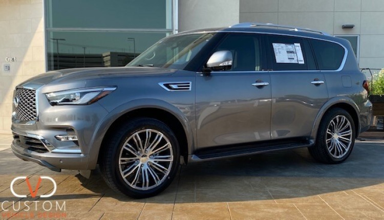 2020 Infiniti QX80 with Vogue VT386 wheels and Vogue Signature V SCT2 Tyres