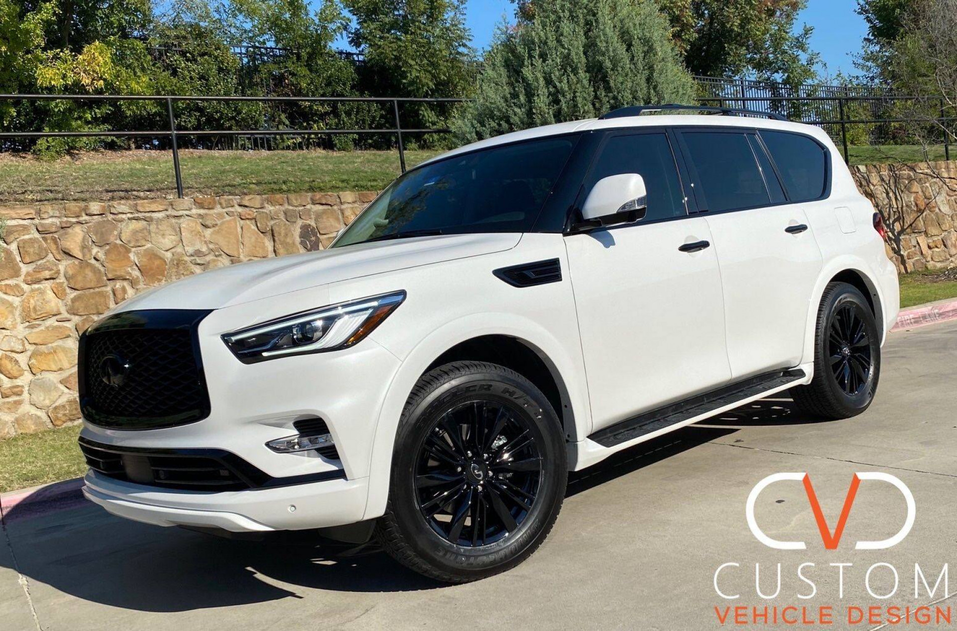 2020 Infiniti QX80 with custom blackout package