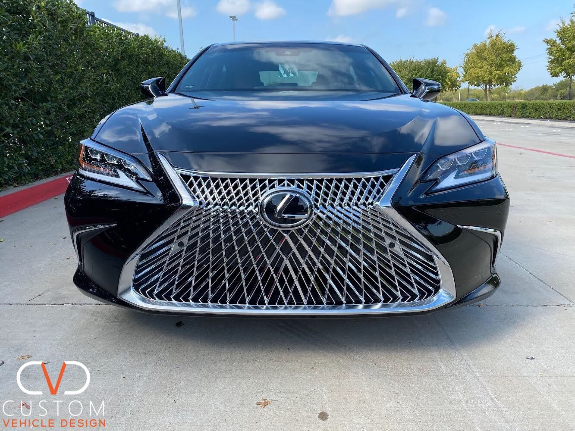 Lexus ES350 with factory chrome wheels and chrome luxury grille