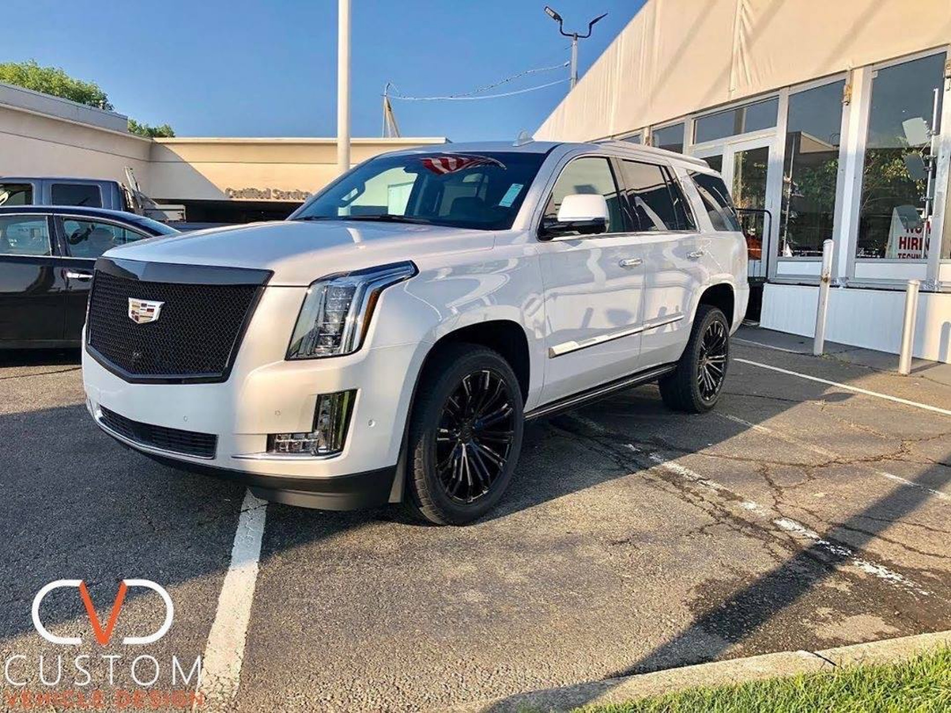 2020 Cadillac Escalade with Vogue VT386 wheels customized by CVD