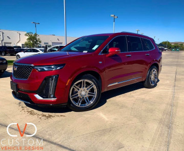 2021 Cadillac XT6 with Vogue VT379 wheels and Vogue signature V Tyres⠀