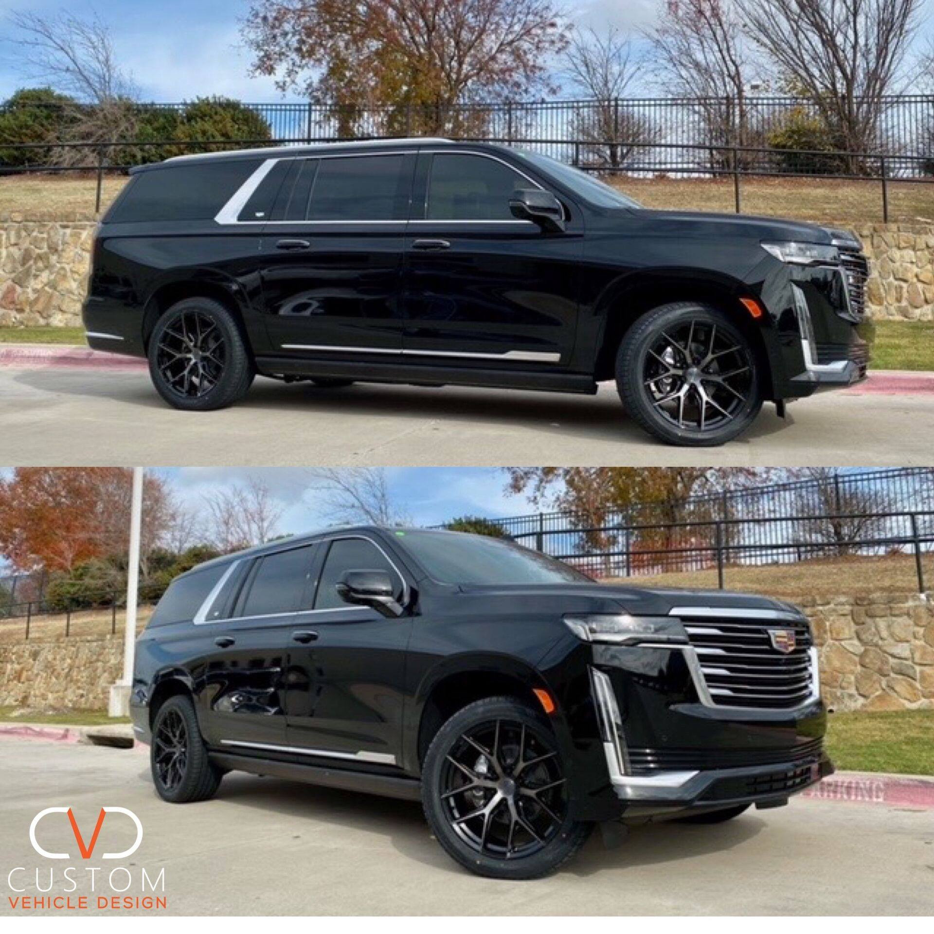 "Cadillac Escalade with 22"" Vossen HF6-4 wheels"