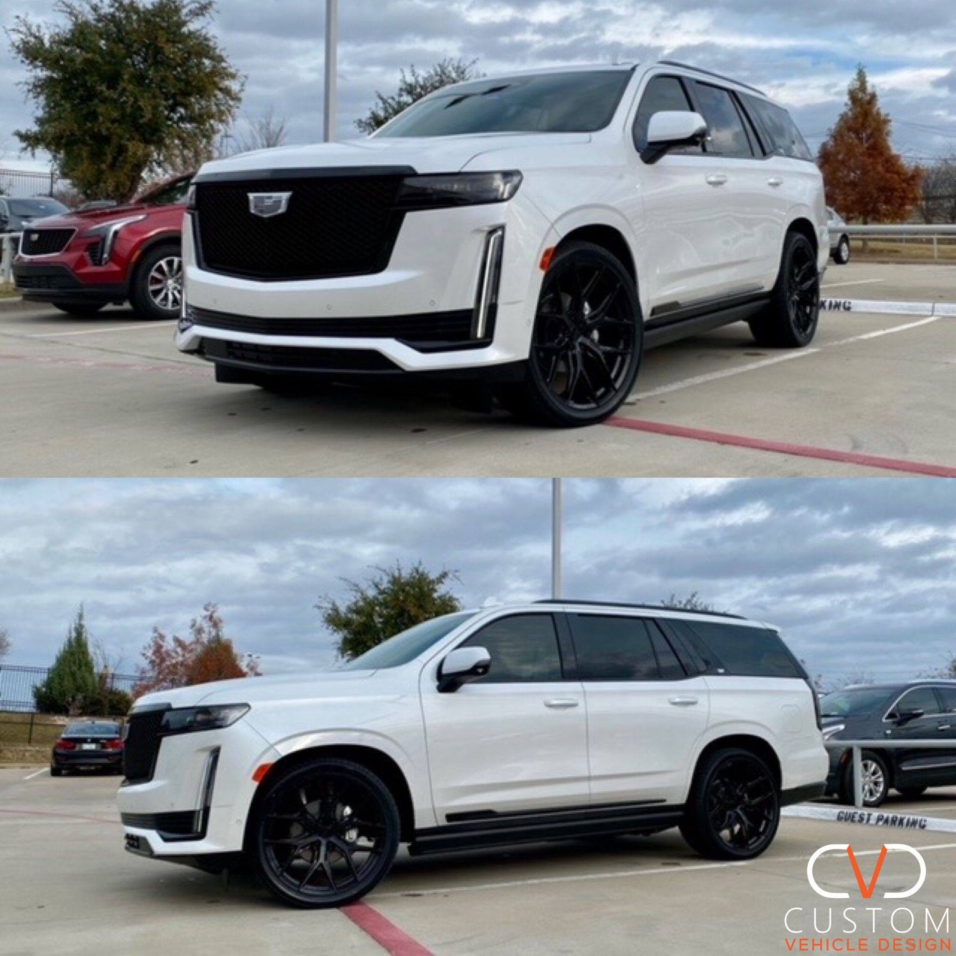 "Cadillac Escalade with 24"" Vossen HF6-4 wheels"