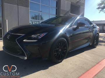 Lexus RC350 F-sport with TSW Sebring wheels in matte black