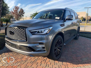 2020 Infiniti QX80 with Vogue VT386 Wheels and the CVD blackout Package