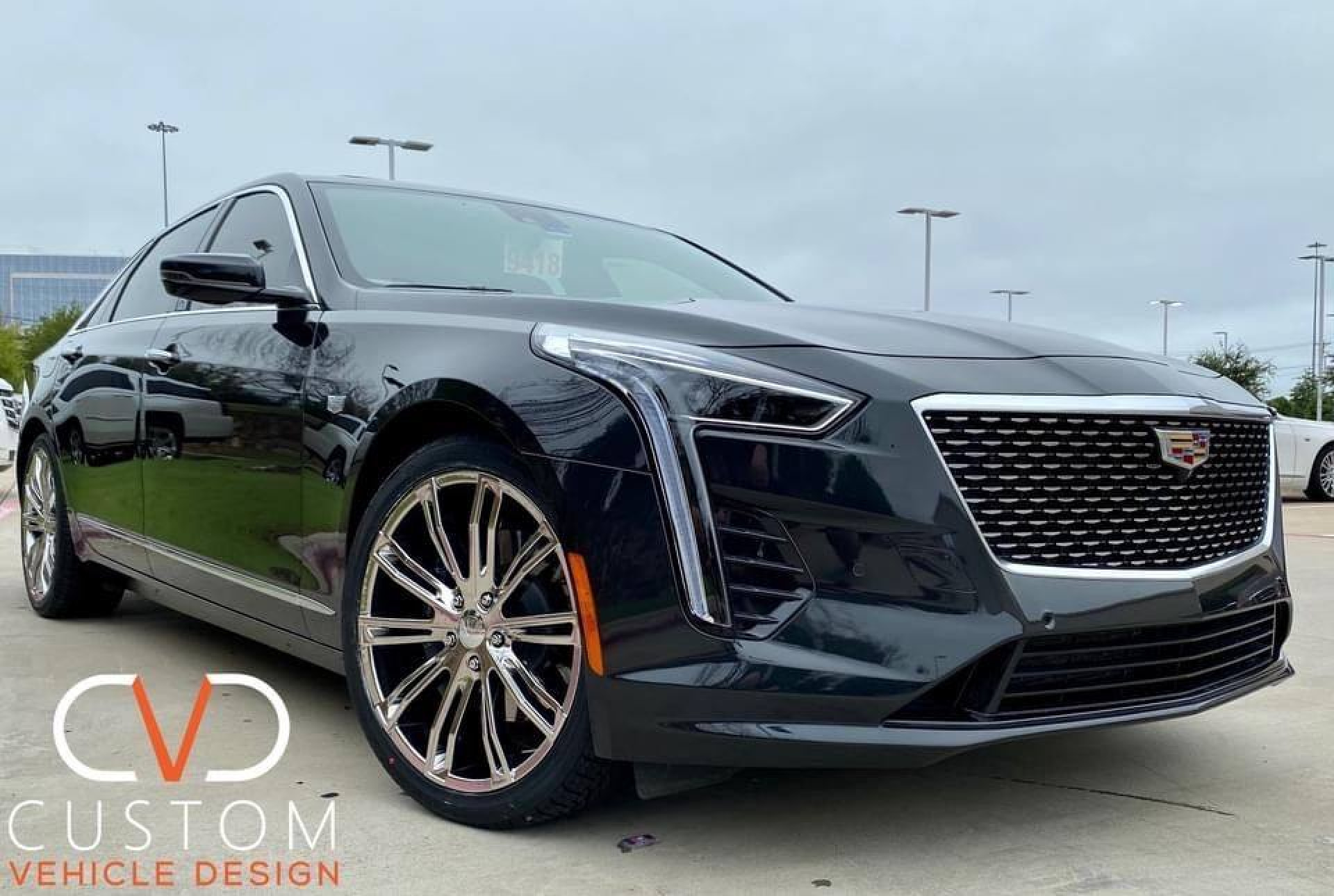 Cadillac with Vogue Wheels and Signature V Tyres
