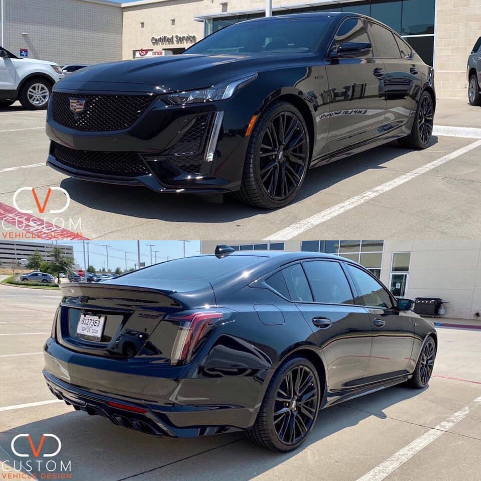2020 Cadillac CT5-V with complete blackout package done by CVD