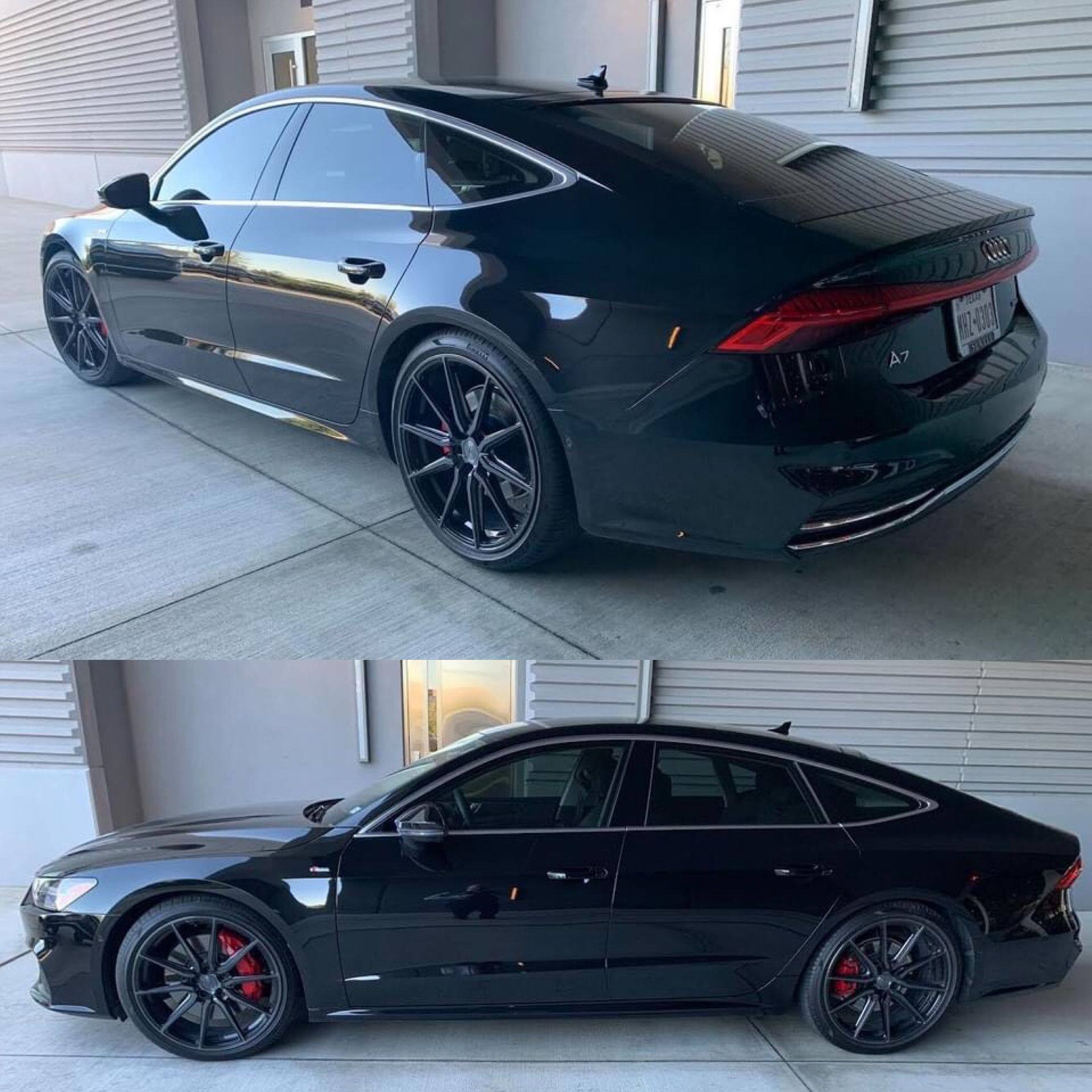 Audi A7 with factory tires and Vossen HF3 wheels