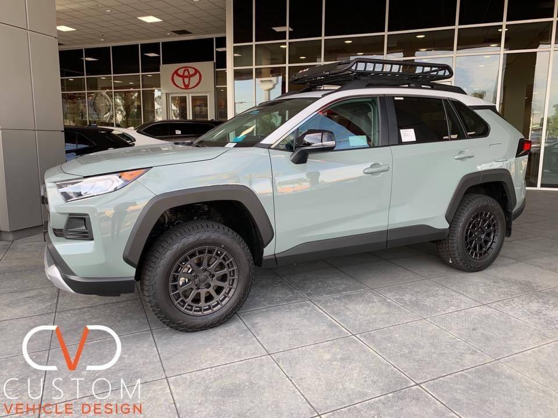 2020 Toyota RAV4 with Black Rhino Boxer wheels