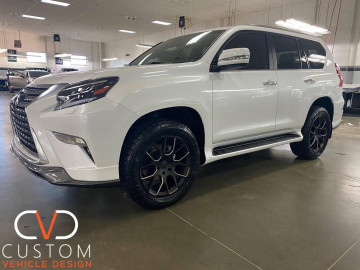 "2021 Lexus GX460 with 20"" Black Rhino wheels"