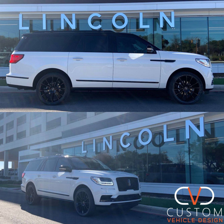 """2020 Lincoln Navigator with 24"""" Status Goliath wheels Vogue Signature V Tyres"""