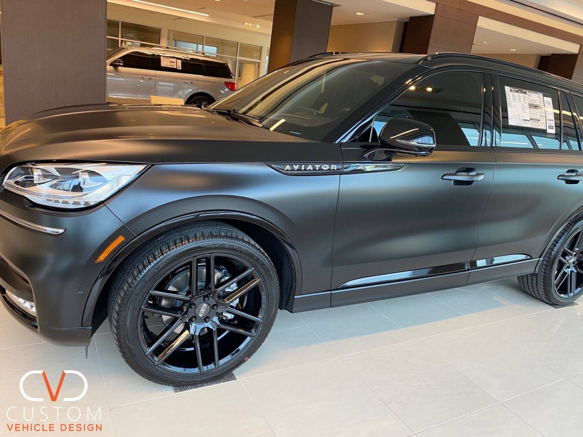 2021 Lincoln Aviator (Matte Black) customized by CVD
