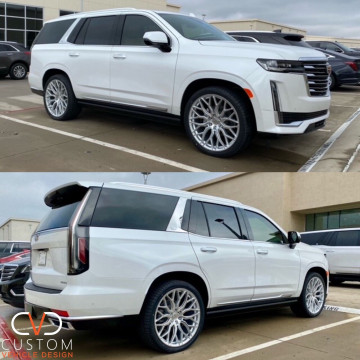 2021 Cadillac Escalade with Vossen HF6-3 wheels and Vogue Signature V Tyres