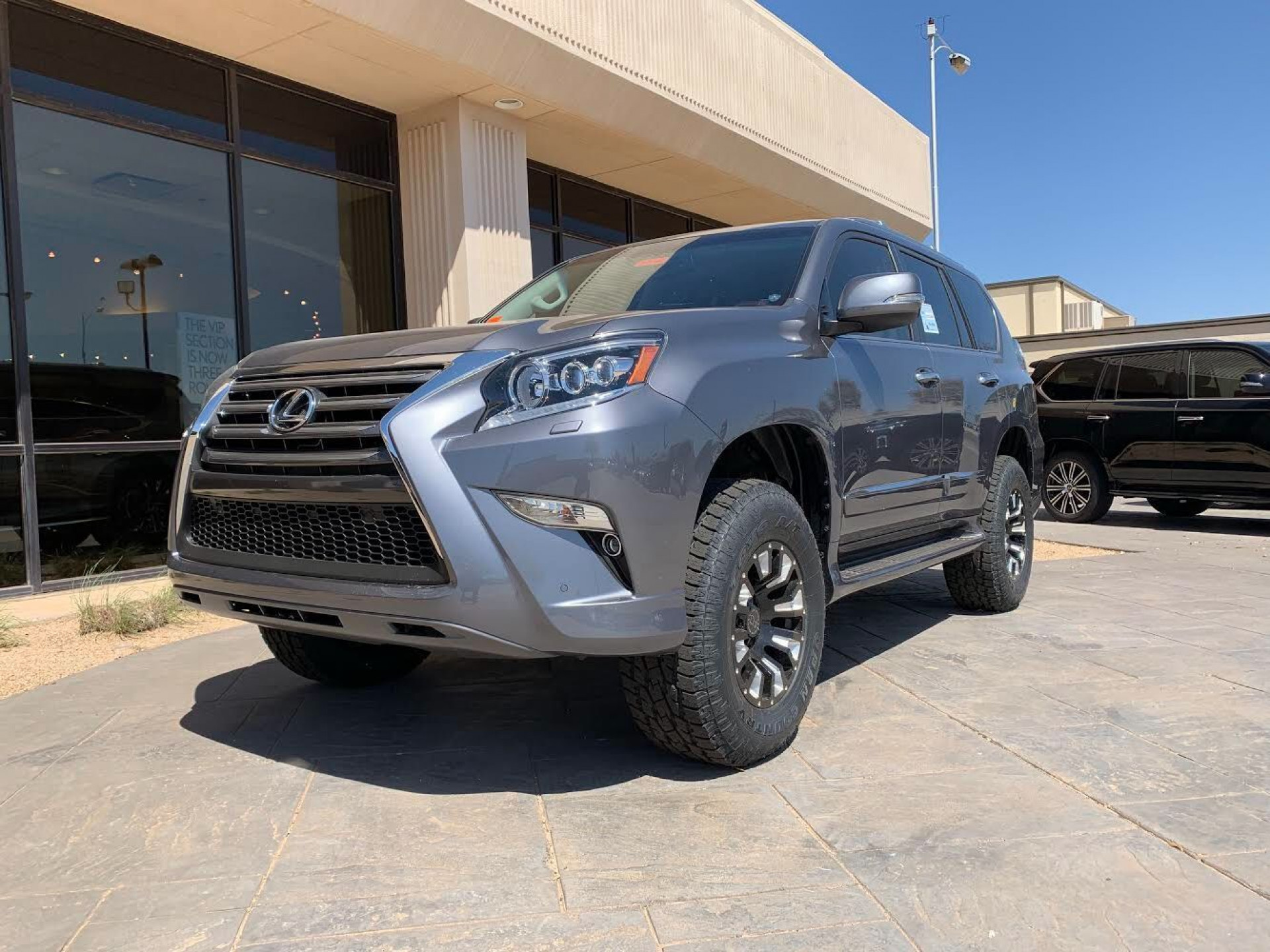 Lexus GX with Black Rhino wheels and Toyo AT tires