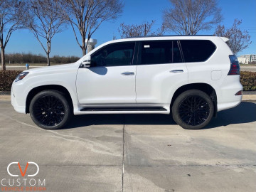 2021 Lexus GX460 with matte wrap and Status wheels