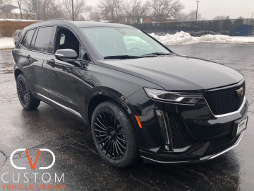 Cadillac XT6 with Vogue VT398 wheels (CVD Blackout package)
