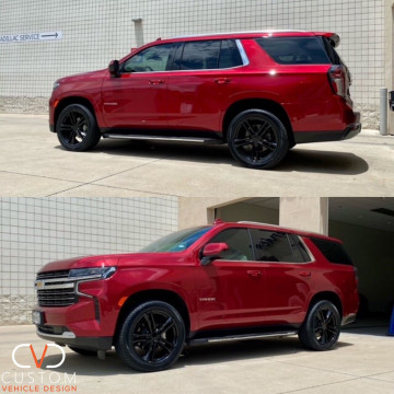"""2021 Chevrolet Tahoe with 22"""" Vogue VT377 wheels and Signature V Tyres"""