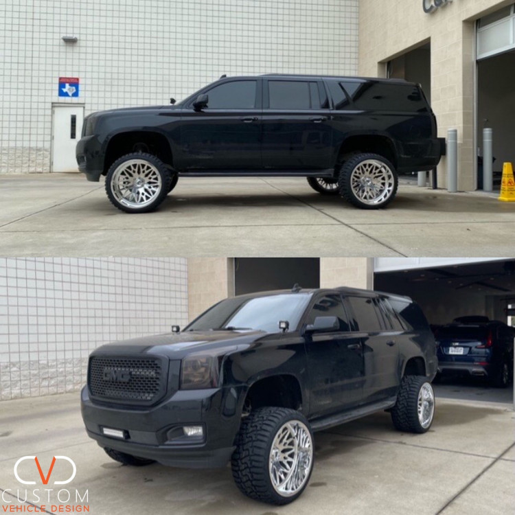 GMC fully customized by CVD. Contact us today to customize your vehicle