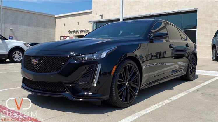 Cadillac CT5-V with complete blackout package done by CVD!