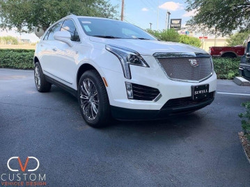 """Cadillac XT5 with 20"""" Vogue VT386 wheels and Signature V tyres"""