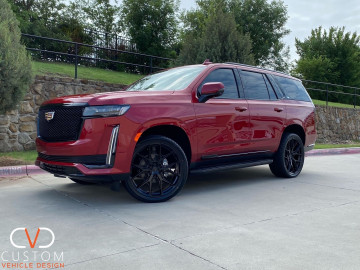 """2021 Cadillac Escalade with 24"""" Vossen HF6-4 wheels and Vogue Signature V SCT2 Tyres"""