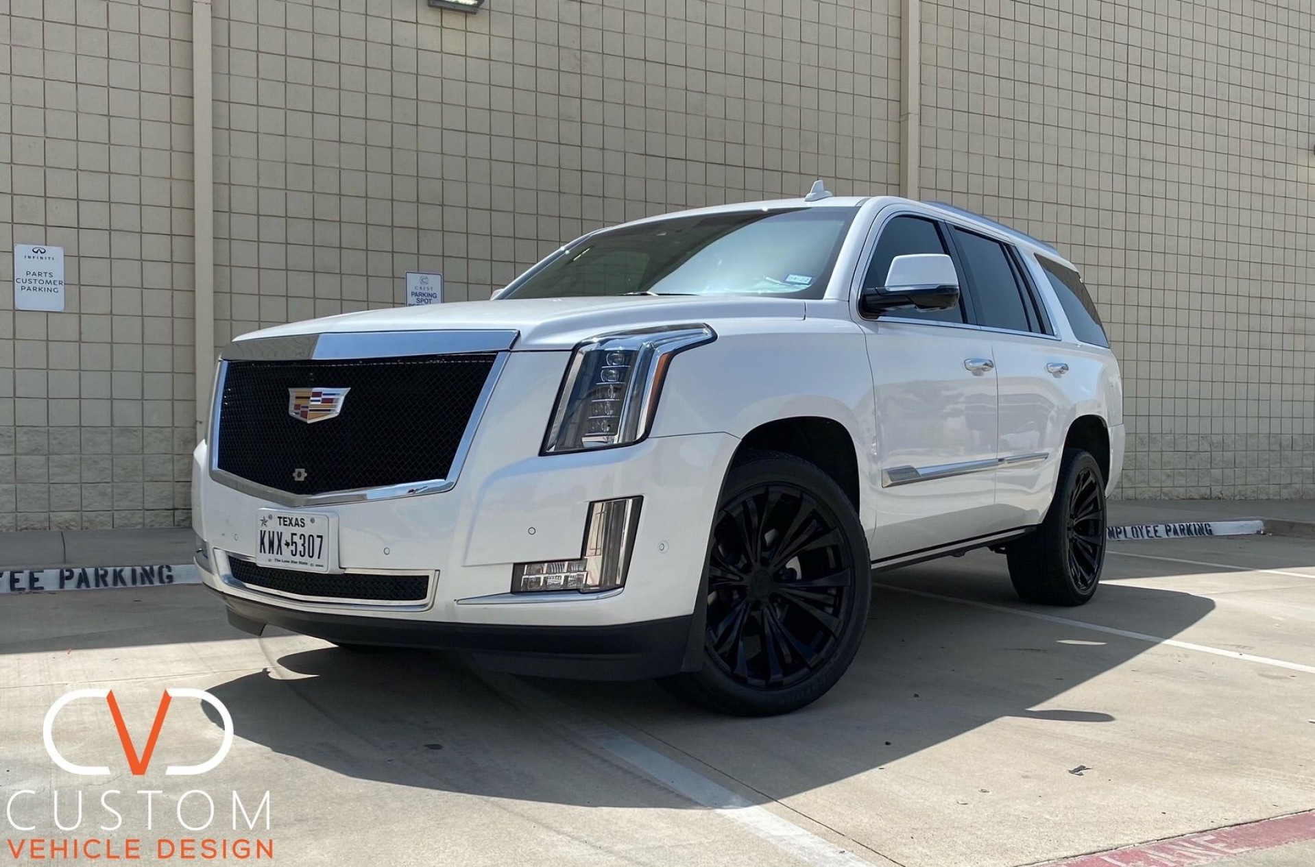 Cadillac Escalade with The Black Ice grill and Vogue Rampage wheels