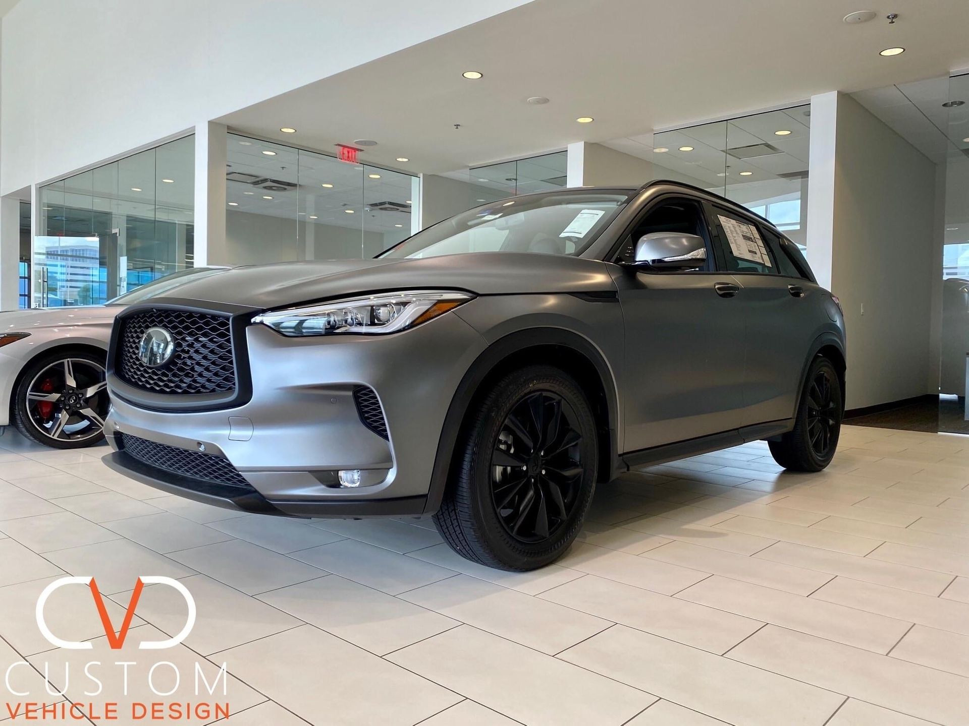 Infiniti QX50 with Matte blackout package done by CVD