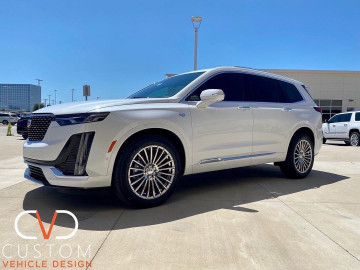 Cadillac XT6 with Vogue VT387 wheels and Signature V Tyres