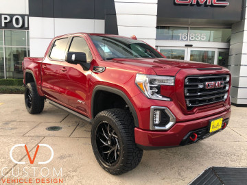 2021 GMC Sierra AT4 with Fuel wheels