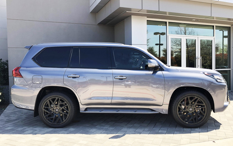 Lexus LX -  Black Rhino Gloss Black Cyclone Wheels