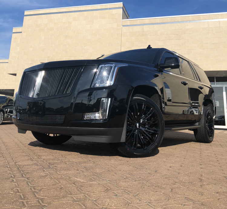 Cadillac Escalade -Vogue VT386 Wheels and Vertical PID Grille