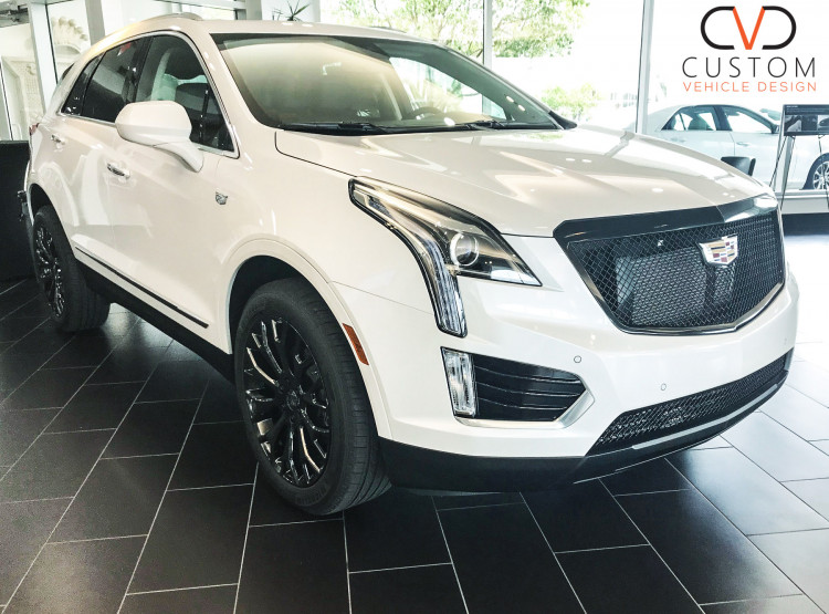 Cadillac XT5 - Vogue VT383 Black Wheels, Heavy Mesh Grille