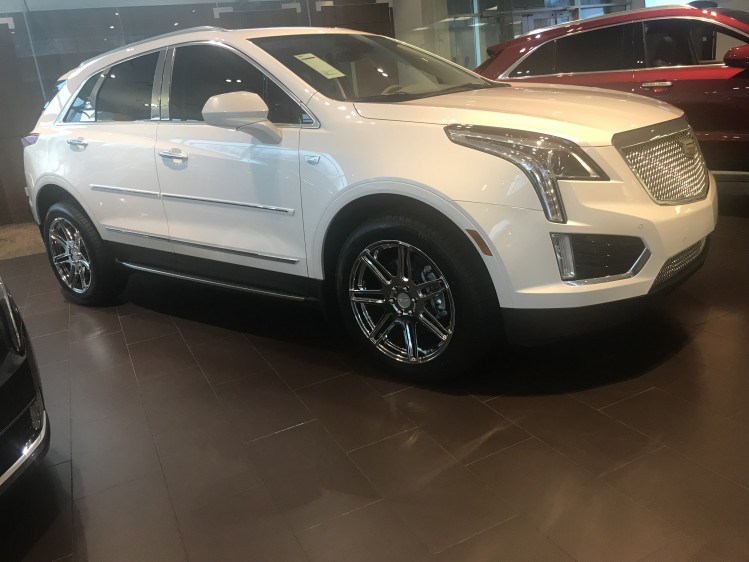 Cadillac XT5 -VT379 White Eco Plate Rims and Heavy Mesh Grille
