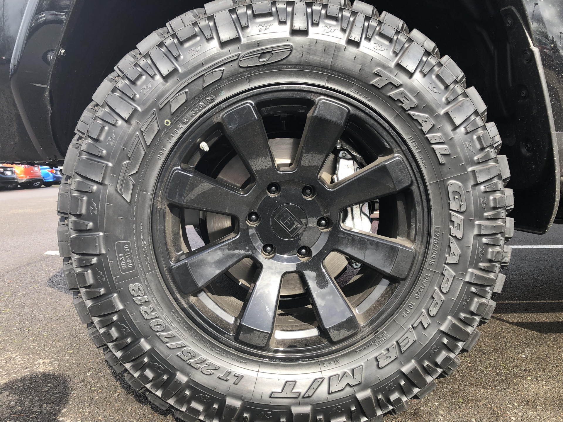 "Toyota 4Runner - 18"" Level 8 Enforcer Wheels and Nitto Trail Grappler"