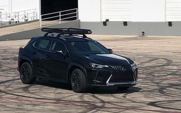 "Lexus UX with 18"" Boxer (OE tires) and debadged Rola rack"