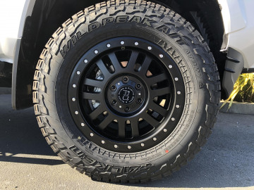Toyota Tacoma with 18 inch Black Rhino El Cajon wheels and 285/65/18 Falken Wildpeak tires