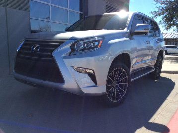 Lexus Gx460 with Vossen HF-6 tinted matte gunmetal wheels 20x9.5 wrapped in 265/50/20 Michelin Premier tires
