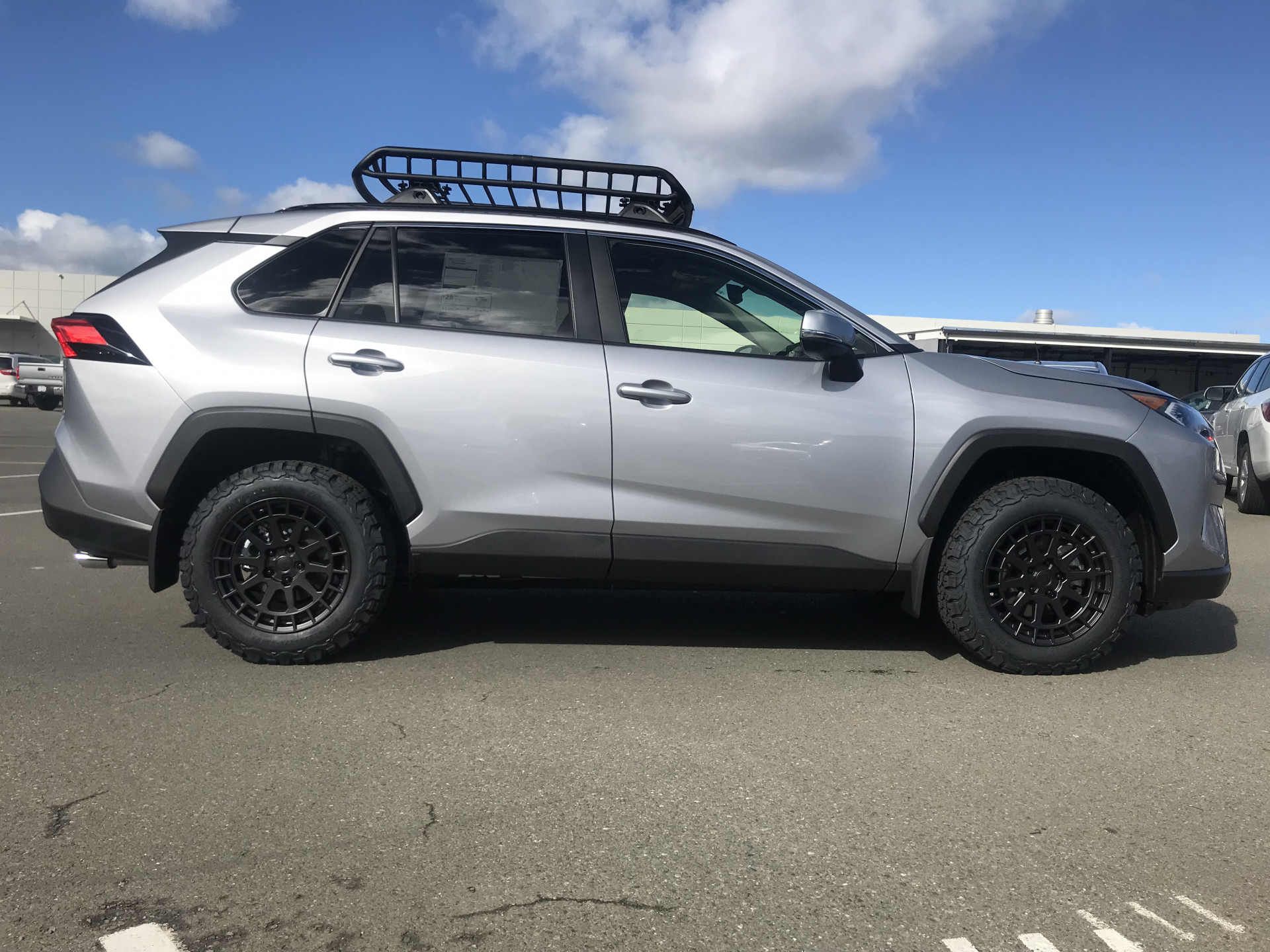 Toyota RAV4 Overland Black Rhino Boxer 17-in with 225/65R17 and ROLA cargo basket